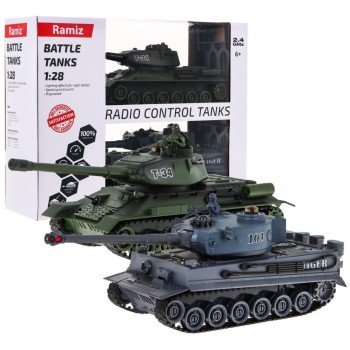 Tankas Tiger Vs T-34 1:28 R/C
